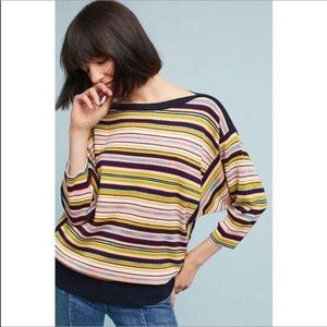 Anthropologie Moth striped dolman sweater small